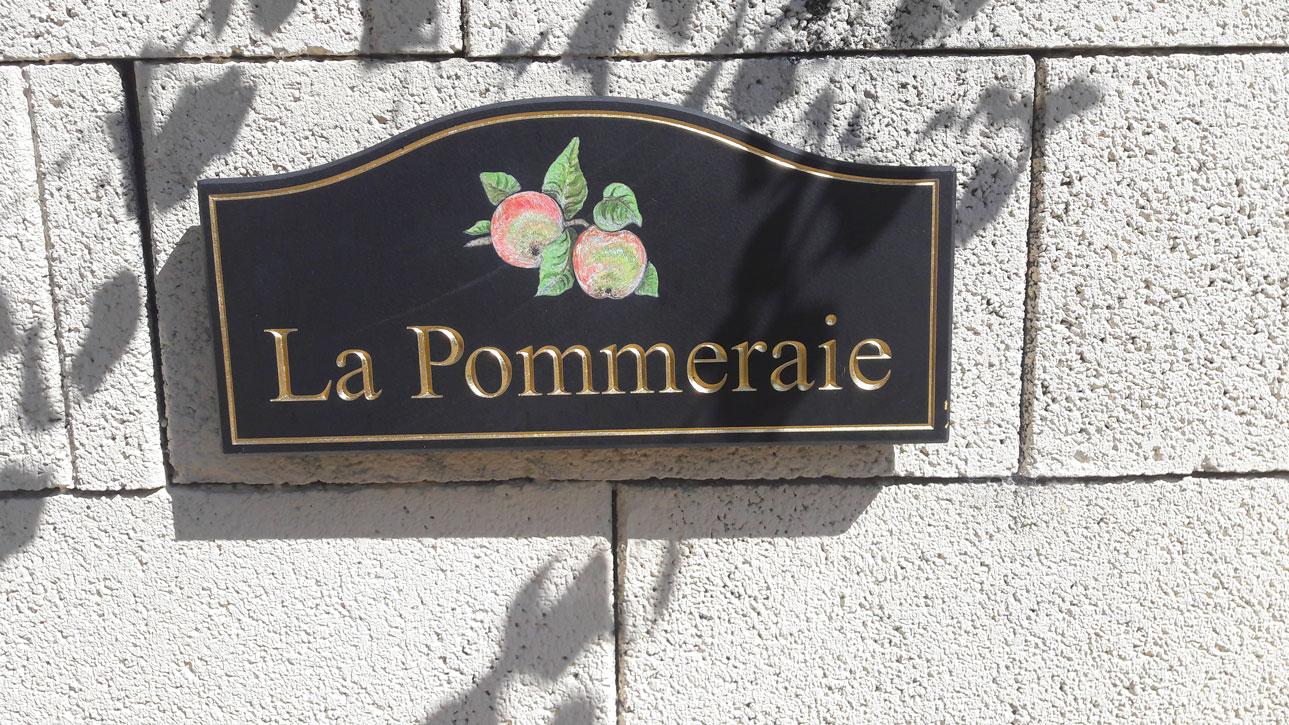 Plaque de la Pommeraie Proche Alencon